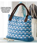 W815 Crochet PATTERN ONLY Felted Tapestry-Style Ripple Classy Tote Bag P... - $7.50