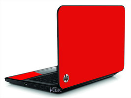 Red Vinyl Laptop Lid Cover Skin Decal Fits Hp Pavilion G6 - $10.99
