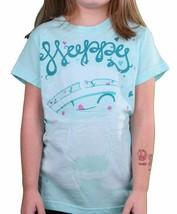 Iron Fist Girls Happy Camper Turquoise Blue Aqua Youth Little Big Kids T-Shirt