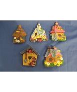 Set of 5 Bird Houses Refrigerator Magnets  - $10.95