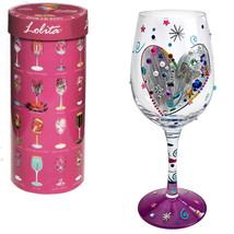 Lolita Love My Wine Glass, Silver Lining 15oz H... - $56.89
