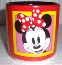 Disney Minnie Mouse Red & Black Ceramic Smiling Faces Mug - $29.99