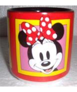 Disney Minnie Mouse Red & Black Ceramic Smiling Faces Mug - $29.99