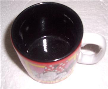 Disney Minnie Mouse Red & Black Ceramic Smiling Faces Mug