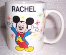 "Disney ""Rachel"" Mickey Mouse Name Ceramic Mug - $29.99"