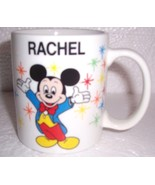 "Disney ""Rachel"" Mickey Mouse Name Ceramic Mug - $29.99"