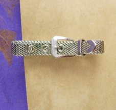Unusual Mesh Wrap Belt Tie Clip Vintage Pant Suit Accessory Designer Swa... - $95.00
