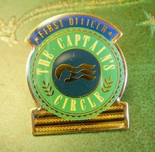 First Officer Tie Tack Vintage Captains Circle Lapel Pin Cruise Ship Din... - $65.00