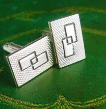 Vintage Eternity Cufflinks interlocking Blank Geometric Shapes for Monogramming  - $75.00