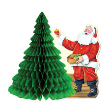 "Beistle Santa w/Tissue Tree Centerpiece 11""- Pack of 12 - $41.68"