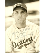 1938 baseball postcard brooklyn dodgers forrest tot presnell rookie auto... - $59.99