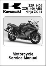 2006-2007 Kawasaki Ninja ZX-14 ZZR1400 ABS Service Repair Manual CD -- ZZR 1400 - $12.00