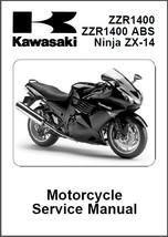 2008-2011 Kawasaki Ninja ZX-14 ZZR1400 ABS Service Repair Manual CD .. ZZR 1400 - $12.00