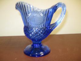 Vintage Avon Cobalt Blue Pitcher By Fostoria For Avon - 1976 - $16.48