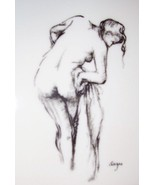 EDGAR DEGAS NUDE MODEL IMPRESSIONIST FRAMED MIRROR ART - $142.89