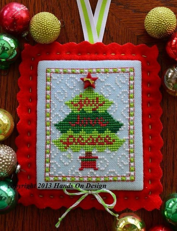 Primary image for Blessings Tree EXCLUSIVE LINEN KIT christmas cross stitch kit Hands On Design