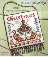 Santa's Sleigh EXCLUSIVE EVENWEAVE KIT christmas cross stitch kit Tempti... - $16.00