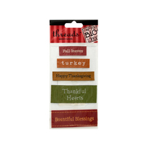 Bulk Buys Thanksgiving Woven Labels Pack Of 24 - $31.13