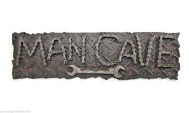 "19.7"" Man Cave Wall Plaque Masculine Brown Polystone Chain Link Look - $34.64"