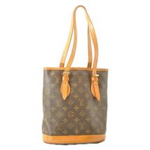 LOUIS VUITTON Monogram Bucket PM Shoulder Bag M42238 LV Auth cr156 **Sticky - $210.00