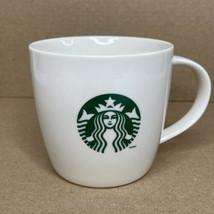 Starbucks 2013 Green Mermaid Logo Coffee Cup Mug White 12 Oz - $15.79