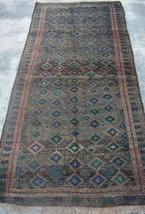 4'2 x 8 Feet Handmade Afghan Tribal Semi Antique Faded Baluch rug , Pers... - $528.30