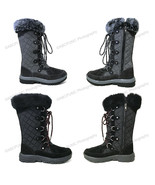 Womens Winter Boots Waterproof Suede Leather Fur Warm Insulated Zipper S... - $43.45+