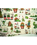 Marcus Brothers Frogs, Bees and Garden Motif Cotton Fabric 36 x 45 - $5.99