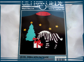 Holiday Ultra Suede Shirts Iron-On  Applique Kit Zebra - $2.00