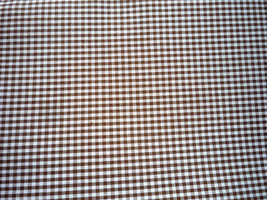 Small Gingham Checked Brown Plaid Check Cotton Fabric 36 x 45 - $3.99