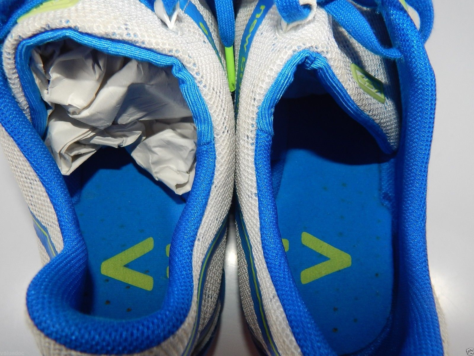 NEW BALANCE MINIMUS MENS RUNNING SHOES SZ US 11.5 M ( D ) EU 45.5 WHITE BLUE