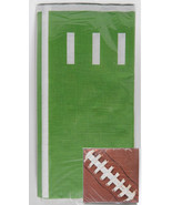 Football ThemeTable Cloth/Cover Napkins Superbowl Tailgate Party Gridiron  - ₨481.10 INR
