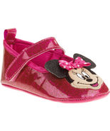 NEW Disney MINNIE MOUSE 3D SPARKLE Ballet Flat Crib Shoes for BABY - £9.31 GBP