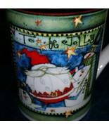 """To Be Jolly Santa Mug Christmas Pat Yuille Royal Norfolk Snowman 4-3/4"""" - $19.31"""