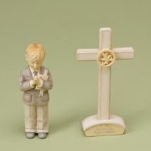 Enesco Foundations Communion Boy Set with Cross Figurine, 4-1/2-Inch image 2