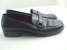 Aerosoles Sun Rise Black Leather Shoes Flats Lo... - $9.95