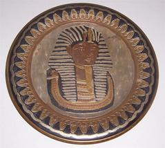 Egyptian King God Pharaoh Amen Ra Tut Ramses Brass & Copper Wall Plate K... - $191.99