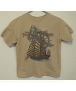 Boys Disney Beige Short Sleeve T Shirt Jack Sparrow Pirates of the Carib... - $5.95
