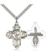 Men's Bliss Large Sterling Silver 5-way / Soccer Cross 5743SS/24S 5743SS... - $50.00