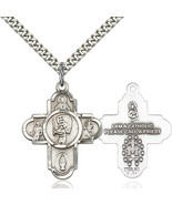 Men's Bliss Large Sterling Silver 5-way / Baseball Cross 5740SS/24S 5740... - $50.00