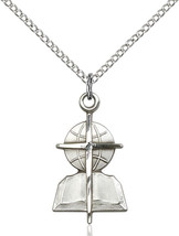 Women's Bliss Sterling Silver Southern Baptist Medal Pendant Necklace  - $49.00
