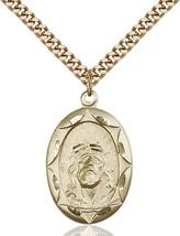 Men's Bliss Gold Filled Ecce Homo Medal Pendant Necklace 0801EHGF/24G - $132.00