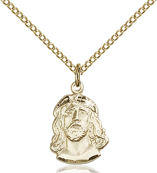 Bliss Small Gold Filled Ecce Homo Medal Pendant Necklace  0081GF/18GF