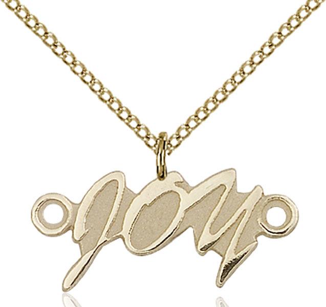 Women's Bliss Gold Filled Joy Medal Pendant Necklace