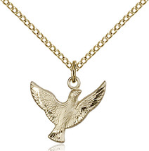 Bliss Small Gold Filled Holy Spirit Medal Pendant Necklace  5912GF/18GF - $64.00