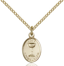 Bliss Small Gold Filled Holy Communion Medal Pendant Necklace For Children - $62.00