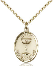 Women's Bliss Gold Filled Holy Communion Medal Pendant Necklace  - $144.00