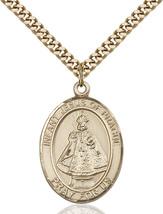 Men's Bliss Gold Filled Infant Of Prague Medal Pendant Necklace  - $132.50
