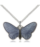 Women's Bliss Sterling Silver Butterfly Medal Pendant Necklace  - €48,44 EUR