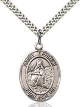 Men's Bliss Sterling Silver St. Ephrem Medal Pendant Necklace  - $52.00